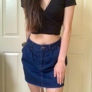 High waisted Zara denim skirt